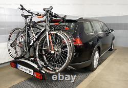 Fahrradträger Anhängerkupplung Aguri Active Bike 2 SILVER für 2 Fahrräder 60kg