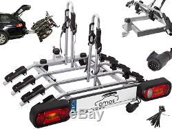 Fahrradträger für Anhängerkupplung vier Fahrräder eBike AMOS Tytan 4 PLUS 13-pol