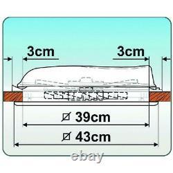 Fiamma Turbo Vent 160 White Skylight Roof Vent 12v Motorised Motorhome Caravan
