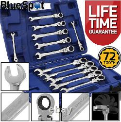 Flexible Ratchet Spanners 8mm 19mm Flexi Combination Wrench Combi Spanners x12