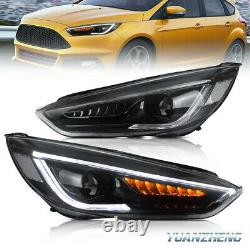 For Ford Focus Headlights 15-17 MK3 ST Head Lamps With Sequential Indicator LED