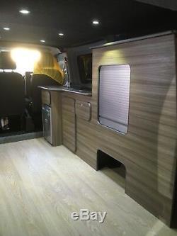 Ford Transit Custom Swb Camper Van Kitchen Unit Light Driftwood Lightweight Ply