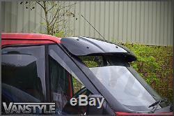 Ford Transit Mk6 00-07 Black Solid Sunvisor Sun Visor Wind Deflector Tourneo