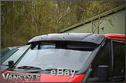 Ford Transit Mk7 07-13 Black Solid Sunvisor Sun Visor Wind Deflector Tourneo