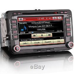 GPS Autoradio for VW NAVI DOPPEL Golf 5/6 Passat Jetta Skoda Seat Touran Eos OBD