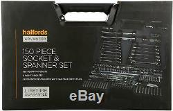 Halfords Advanced 150 Pc Socket & Spanner Set Workshop Tools Lifetime Guarantee