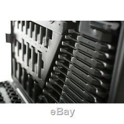Halfords Advanced 200 Pc BF Limited Edition Socket & Ratchet Spanner Set Black