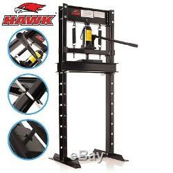 Hawk 12 Ton Heavy Duty Workshop Garage Mechanic Hydraulic Upright Shop Press