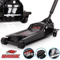 Hawk 3 Ton Super Low Entry Hydraulic Twin Piston Car Van 4x4 Garage Trolley Jack