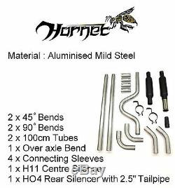 Hornet Universal Exhaust Kit 2 Bore and 2.5 Stainless Steel Tailpipe