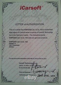 ICarsoft CR PRO Universeller Scanner ALLE SYSTEME & Online Service FULL SYSTEM