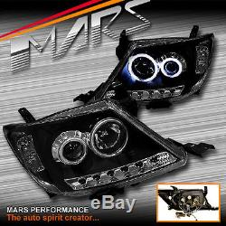 JDM Black DRL & CCFL Angel-Eyes Projector Head Lights TOYOTA HILUX VIGO 05-11