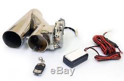 Klappenauspuff / Klappensteuerung ByPass Inkl. Fernbedienung EDELSTAHL 76mm