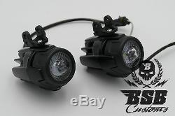 LED Zusatzscheinwerfer + Montagekit für BMW Scheinwerfer GS 1200 1250 schwarz