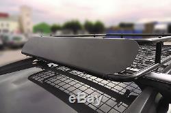 Leisurewize Universal Heavy Duty Steel Aerodynamic Roof Rack Bar Tray Carrier