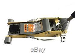 Liftmaster 2.5 Ton Aluminium and Steel Low Profile High Lift Floor Jack (Gold)