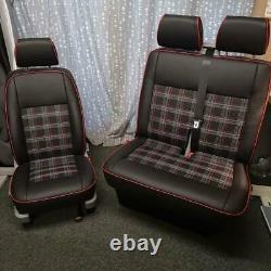 M1 Tested Rock and Roll Bed 3/4 and T5 Front Seats to Match GTI Tartan