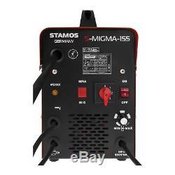 MIG MAG Kombischweissgerät 155 Ampere Schutzgas MMA E-Hand Schweißgerät Inverter