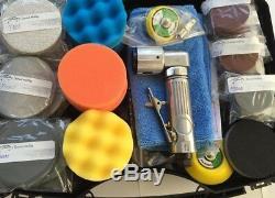 Mini Druckluft exzenterschleifer 75 50mm smart repair Set Felgen Scheinwerfer