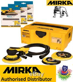 Mirka DEROS 5650CV Electric Sander kit, 50 abranet discs+hose+case, bluetooth spec