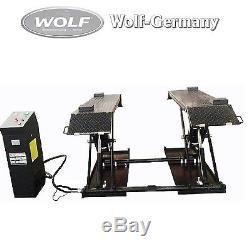 Mobile Scherenhebebühne Hebebühne 3000kg Spengler-Lackiererbühne Wolf Germany