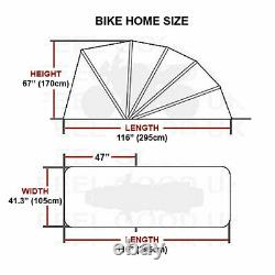 Motorbike Bike Cover Shed Folding Storage Garage Motorcycle Scooter Shelter New