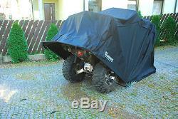 Motorradgarage Faltgarage Motorrad Quad Garage Schutzplane Faltzelt grau XXL