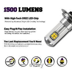 NIGHTEYE Pair H7 80W LED Fog Light Bulbs Headlight 6000K Daytime White UK Stock