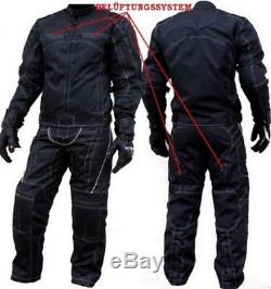 Neue Motorradkombi Jacke + Hose Aus Textil Mit Herausnehmbaren Protektoren