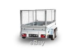 New Cage 4 Twin Axle Car Trailer 9x4 Class 750kg + Only This Week A Free Trailer