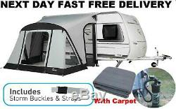 New+Carpet 2020 Dorema Quick And n Easy 265 Air Inflatable Caravan Porch Awning