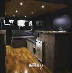 New L Shaped Camper Van Bed for VW T4 T5 T6 Transit & Vivaro. Ply Camper Beds