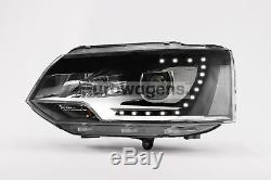 New VW Transporter T5.1 Upgrade Headlights Pair Perfect OEM Xenon Style LED DRL