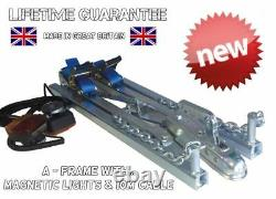 Newone Person 2.6t Car Recovery A Frame Towing Dolly Trailer + Magnetic Light
