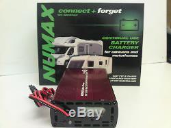 Numax 12V 10A Leisure Battery Charger Caravan Campervan Motorhome Marine Boat