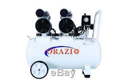 ORAZIO Silent Type Oilless Air Compressor 50L 2 Motors Garage Workshop Clinic
