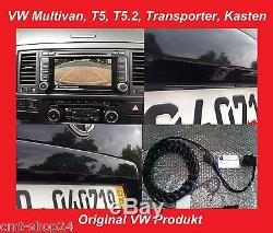 Original VW RVC RFK Rückfahrkamera Nachrüst Set T5 Multivan T5.2 Transporter 7E