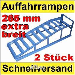 PKW Auffahrrampen EXTRA BREIT 2000 kg Tragkraft/2 Stück