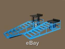 PKW-Auffahrrampen, höhenverstellbar, EXTRA BREIT 265 mm bis 245er Reifen