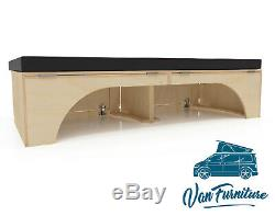 PLY Sliding Camper Van Bed Vivaro, Movano, Sprinter VW T4 T5 T6 Transit Custom