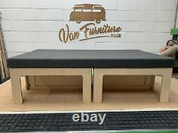 PLY Sliding Camper Van Beds Sofa Bed for VW CADDY, Maxi & Vauxhall Combo