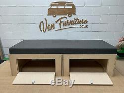 PLY Sliding Camper Van Beds Sofa Bed for VW T4 T5 T6 Vivaro & Transit Campers