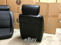 Pair BB1 Clubsport Classic Car Bucket Seats Black With Headrests + Runners