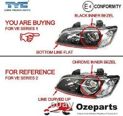 Pair LH+RH Projector Head Light For Holden Commodore VE s1 CALAIS & SSV 0610