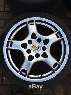 Porsche 997 C4 C4S 19 Alloy Wheel Set Genuine Porsche