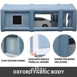 Portable Inflatable Tent Paint Spray Booth Car Mobile Workstation with 2 Blowers