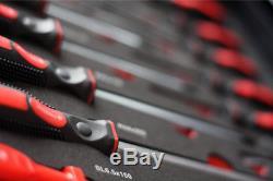 Premium Pro Werkzeugwagen 7 Schubladen mit Werkzeug gefüllt CRV Werkstattwagen