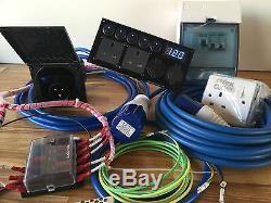 Prewired Campervan/T4/T5/T6Electrical Conversion Kit Hookup 12V/240V Black Inlet