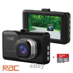 RAC R3000 FULL 1080P 3 HD VIDEO DASH CAM FOR CAR With COLLISION & PARKING SENSOR
