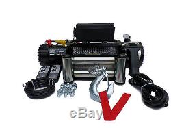 RECOVERY TRUCK WINCH 13500 lb 12v electric 50ft Rope no bunching not 13000